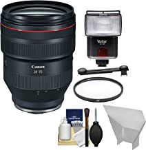 Canon RF 28-70mm f/2 L USM Zoom Lens with UV Filter + Flash + Diffusers + Kit