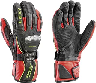 LEKI World Cup Race Ti S Speed System Gloves Black/Red/White/Yellow