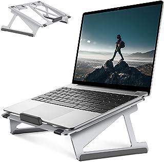 UIHOL Laptopstativ, ergonomiskt aluminium datorstativ med värmeventilation för skrivbordet, höjdjusterbart PC-stativ kompa...