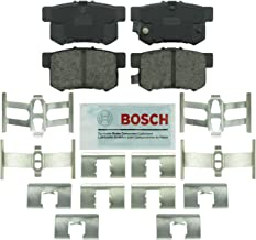 Bosch BE537H Blue Disc Brake Pad Set with Hardware for Select Acura RSX, TL, TSX; Honda Accord, Civic, S2000; and Suzuki vehicles - REAR