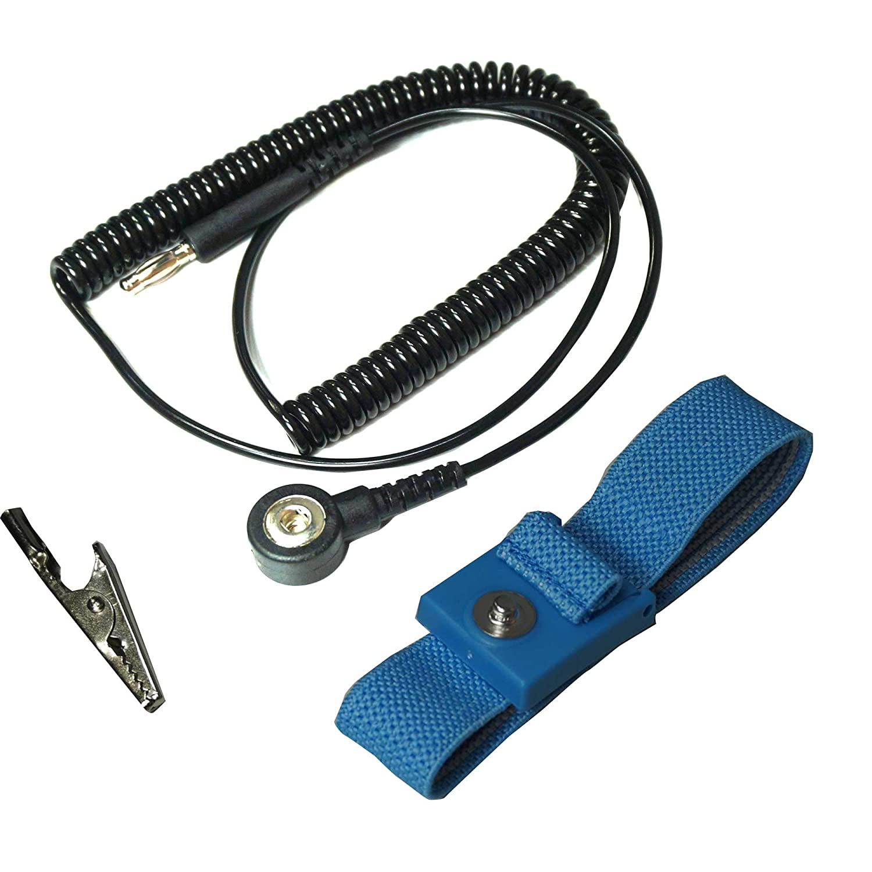 Static Care Wrist Limited price sale Strap Set - 5' Swivel Coil Cord J Type Rapid rise Banana