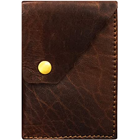 ABYS Genuine Brown Leather Wallet    Business Card Holder for Men and Women