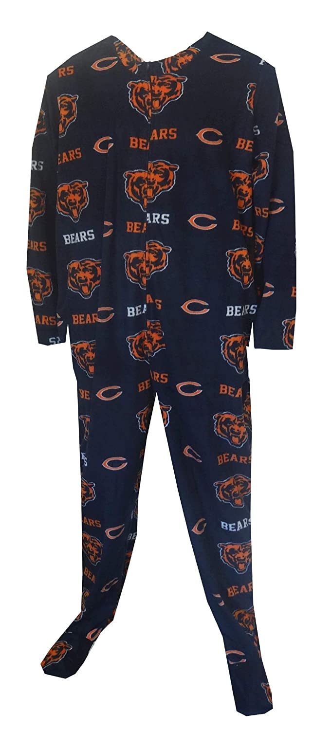 Men's Chicago Bears Men's One Piece Footie Pajama Size XS