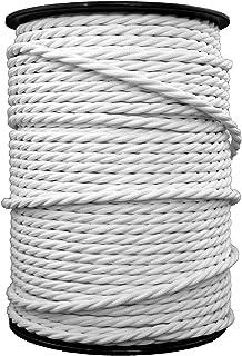 blanco y negro cable el/éctrico flexible Cable de luz de tela trenzada redonda de 2 n/úcleos 5 m