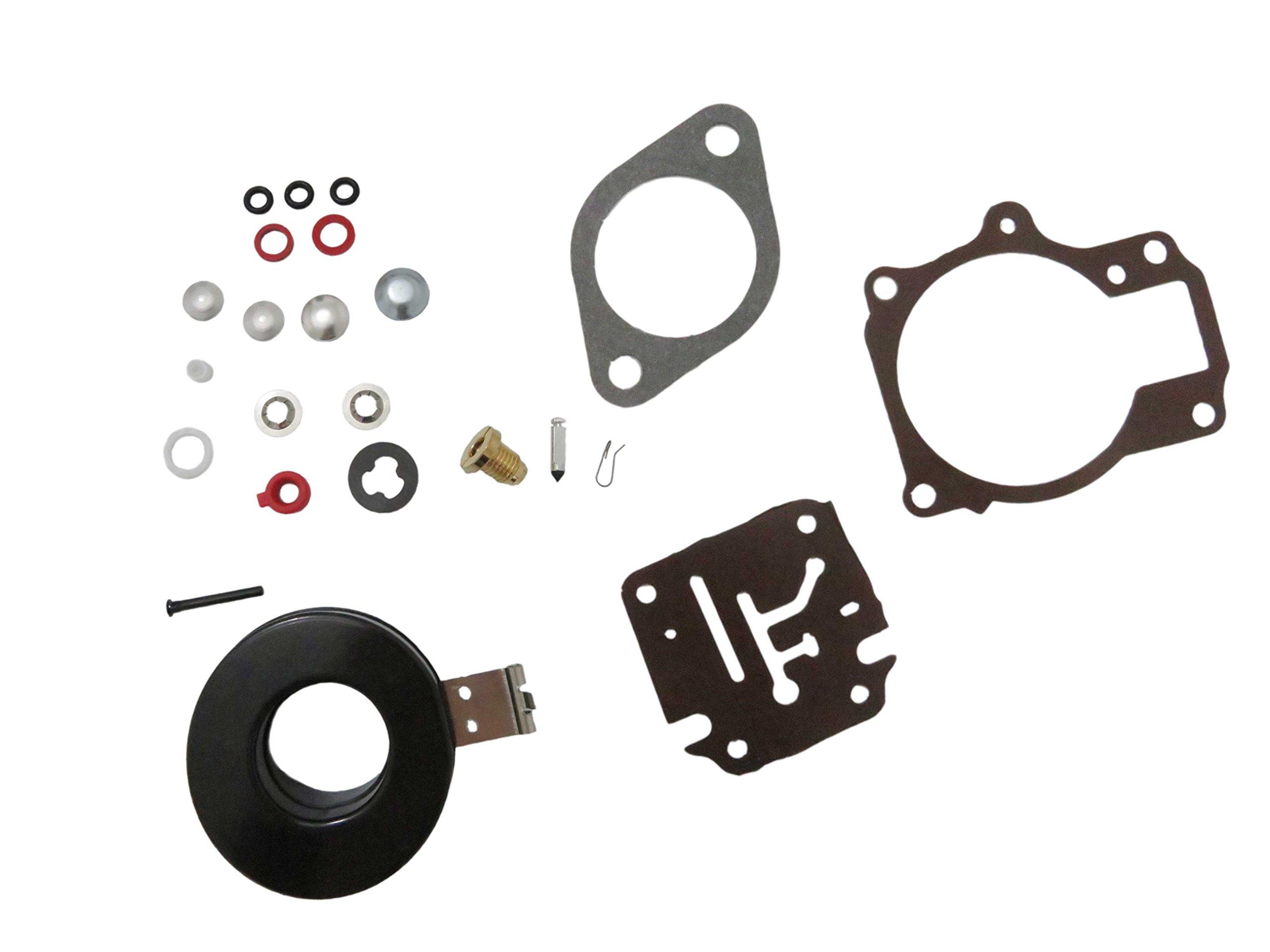 3PCS For Johnson Evinrude 18 20 25 28 40 45 48 HP Carburetor Rebuild Kit w//Float