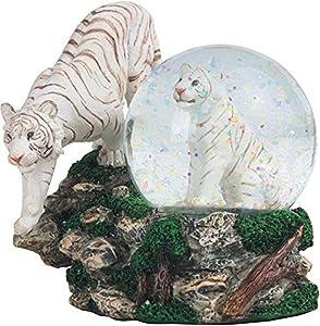 "StealStreet SS-G-28052 Two White Tigers Snow Globe, 4.25"""