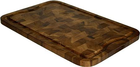 Mountain Woods Brown Extra Large Organic End-Grain Hardwood Acacia Cutting Board w/Juice groove - 24