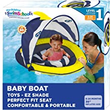 SwimSchool Deluxe Infant Baby Pool Float with Splash & Play Activity Center,..