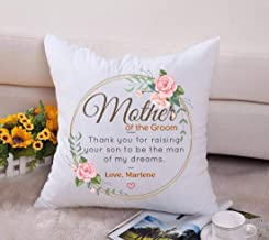 Mother Of The Groom. Thank You For Raising Your Son To Be The Man Of My Dreams. Love, Marlene - Happy Mother's Day, Wedding Day Decorative Throw Pillow Case Cushion Cover 18