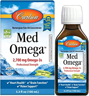 Carlson - Med Omega, 2700 mg Omega-3s Professional Strength, Heart, Brain & Vision Support, Wild Caught & Sustainably Sour...