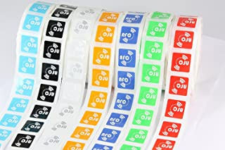 14 X NFC Tags | NXP Chip NTAG213 | 144 Bytes Memory | 7 Colours | Square self-Adhesive Labels | High Scan Strength with Ultra Slim Design