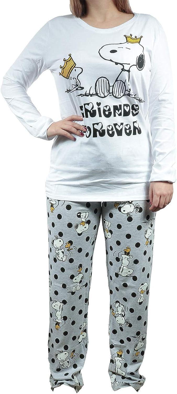 Pijama - Pijama para Mujer, Color Blanco y Gris