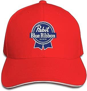 Unisex Pabst Blue Ribbon Logo Adjustable Snapback Trucker Hat Pink One Size