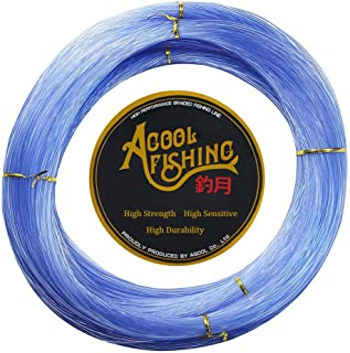 Monofilament Fishing Line Clear Super Power NO Memory Nylon Fishing Leader Line Speargun Line Strong and Abrasion Resistan...