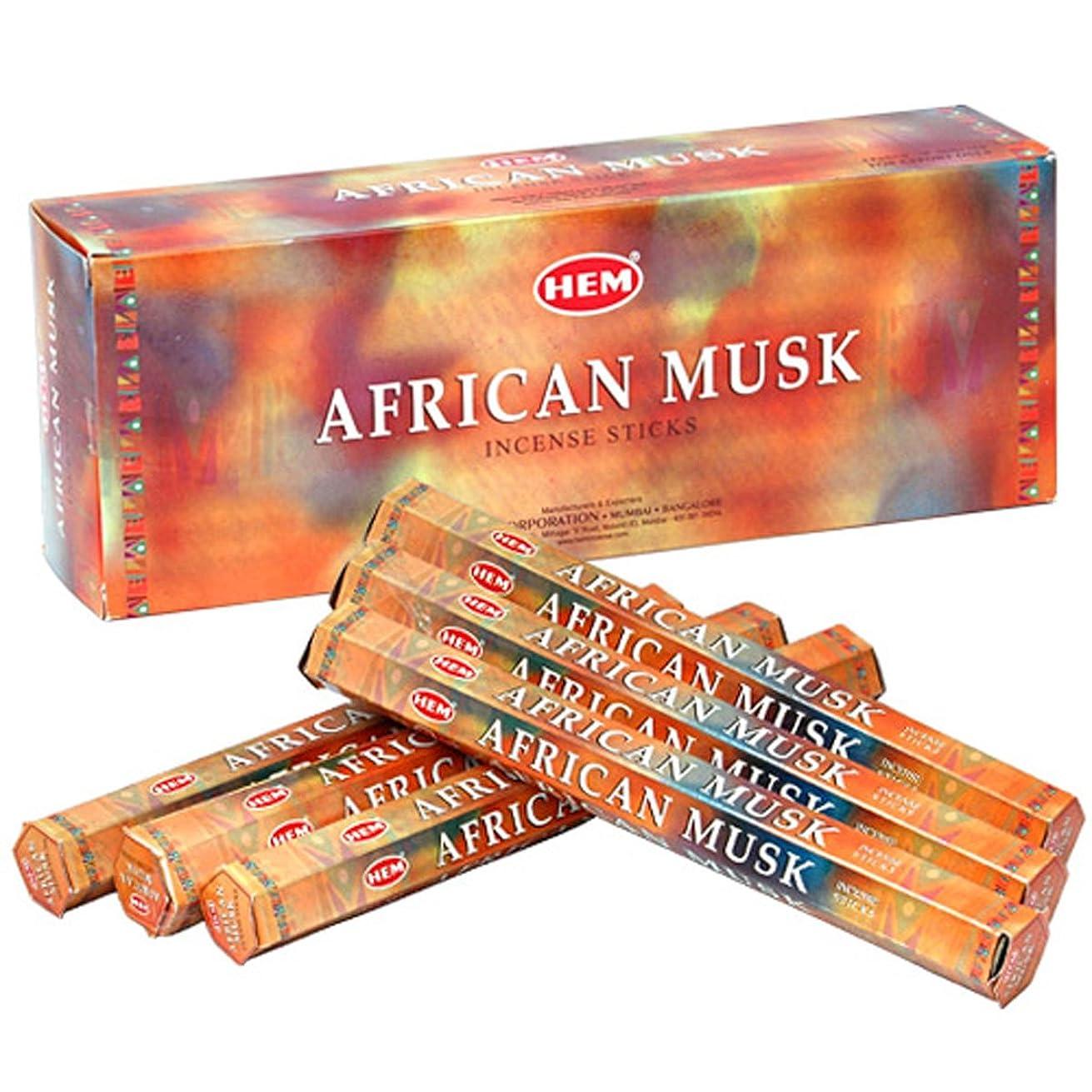リングバック要旨出来事HEM(ヘム) アフリカンムスク AFRICAN MUSK スティックタイプ お香 6筒 セット [並行輸入品]
