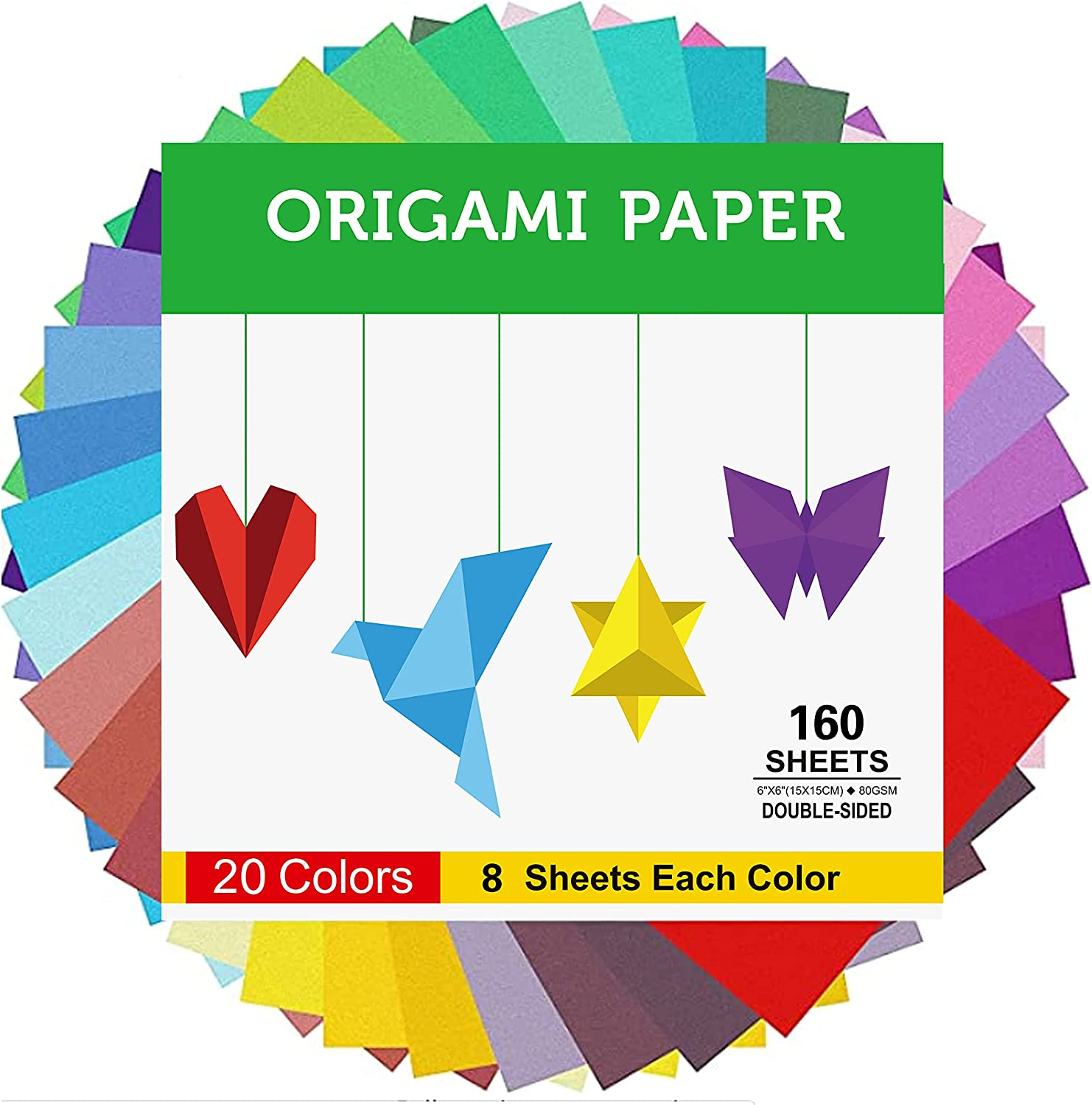 BUBU Origami Paper Kit 1000 At the price Sheets 4 Stickers 6 Inch with Low price