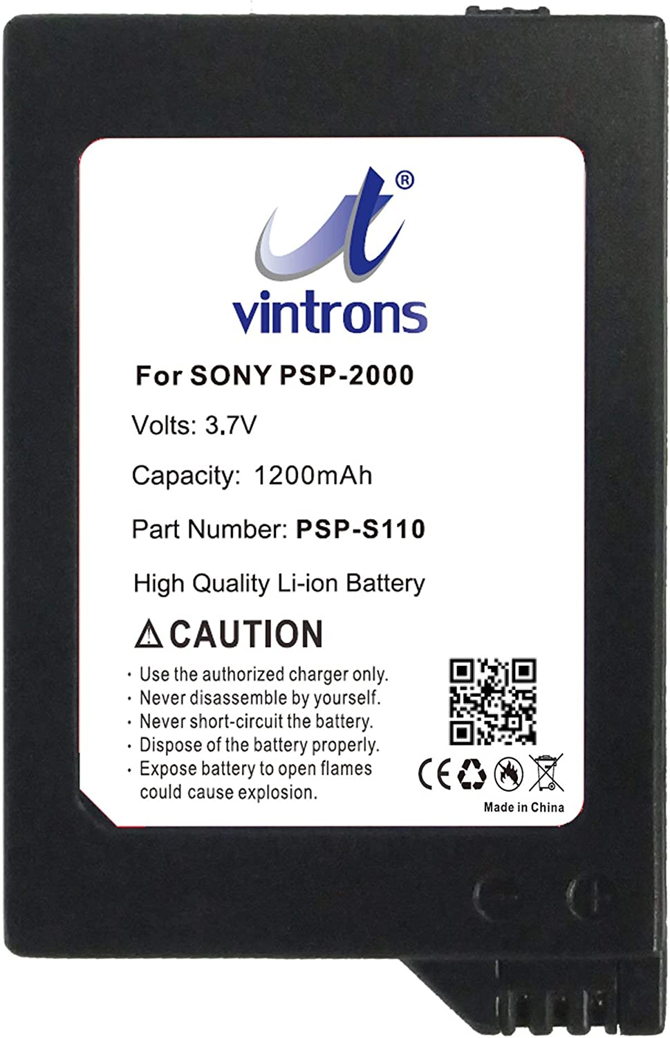 VINTRONS PSP-S110 Battery Sales for sale Replacement PSP-300 Sony 2021new shipping free shipping PSP-2000