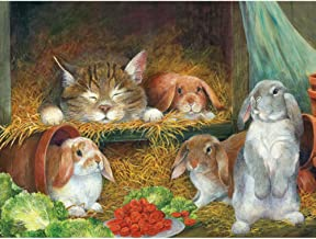Bits and Pieces - 300 Large Piece Jigsaw Puzzle for Adults - Bunnies - 300 Large Piece Jigsaw Puzzle by Artist Lynne Jones