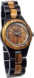Dakota Women's Petite Genuine Wood Watch - Round Genuine Wood Dial, Diameter: 26 mm