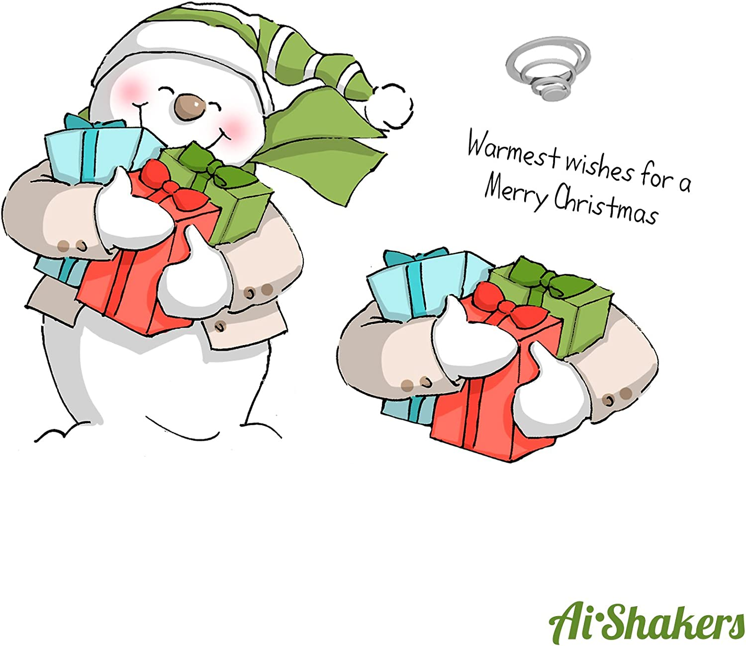 Art Impressions Shakers Card SetSnowman
