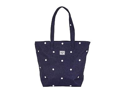 Herschel Supply Co. Mica (Polka Dot Crosshatch Peacoat) Tote Handbags