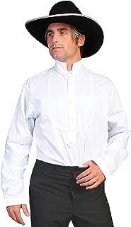 Rangewear Men's Rangewear High Collar Bib Front Shirt - Rw155 Wht