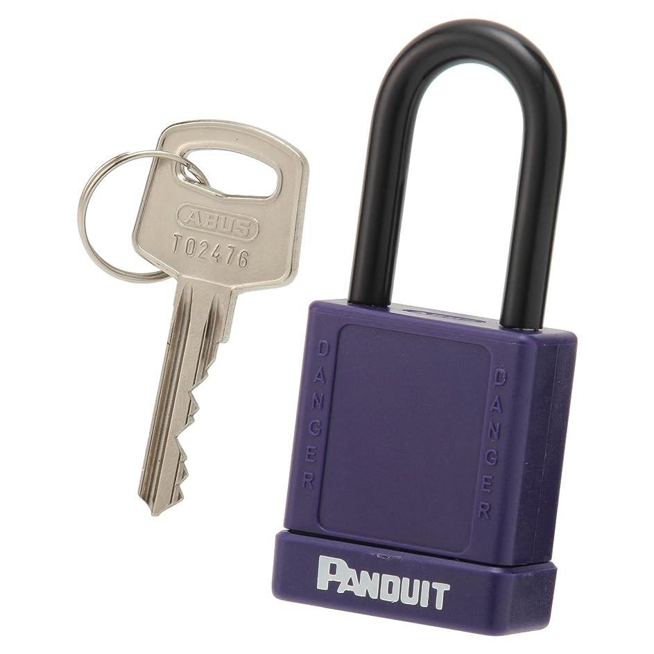 慣らす気配りのあるレポートを書くパンドウイット ロックアウト用非電導性パドロック(南京錠) 紫 PSL-8PU