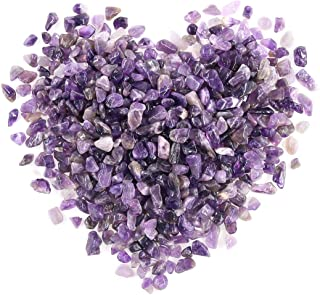 Swpeet 1.1 Pound Small Tumbled Chips Stone Gemstone Chips Crushed Pieces Irregular Shaped Stones Crystal Chips Stone Perfe...