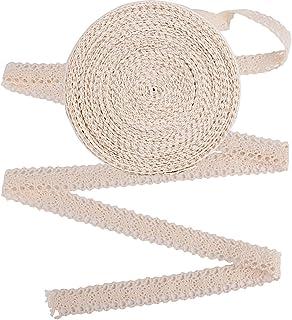 comprar comparacion 20m Encaje Cinta de Puntillas Decorativo Beige Ancho 2cm para Manualidades Boda Navidad Pascua Fiesta Bricolaje (Beige)