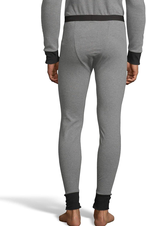 Hanes Mens 2-Color Fusion Knit Thermal Pant