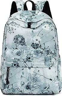 Leaper Floral Backpack Girls School Bookbag Daypack Shoulder Bag Ash green