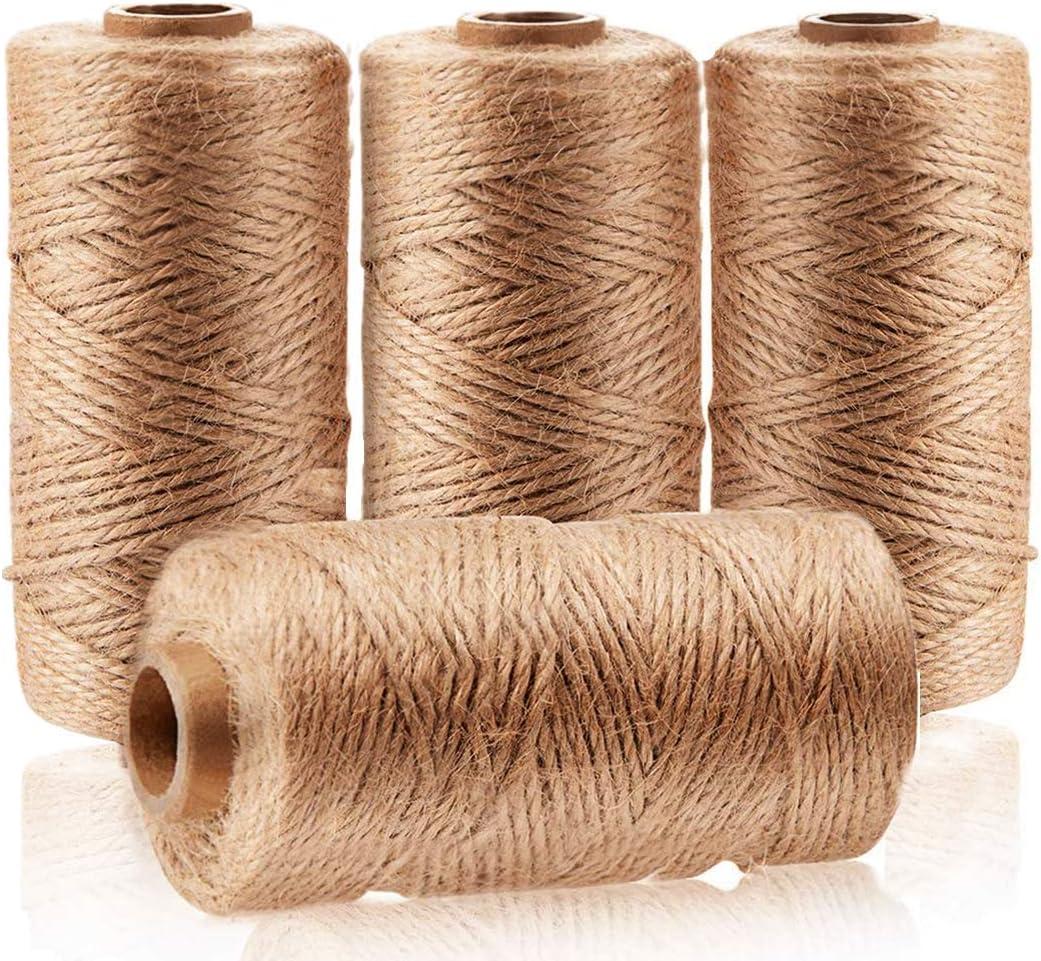 Natural shipfree Jute Twine Free Shipping New 4Pcs(1312 Craft String Foot)