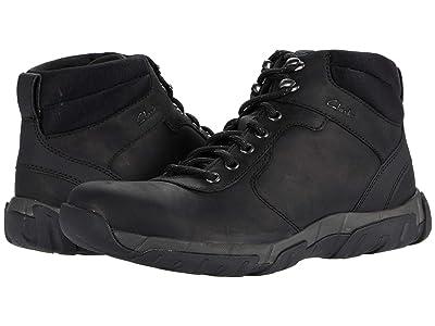 Clarks Grove Hike (Black Leather Waterproof) Men