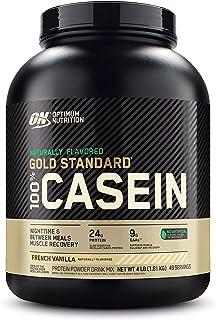 Optimum Nutrition Gold Standard 100% Micellar Casein Protein Powder, Naturally Flavored French Vanilla, 4 Pound (Packaging...