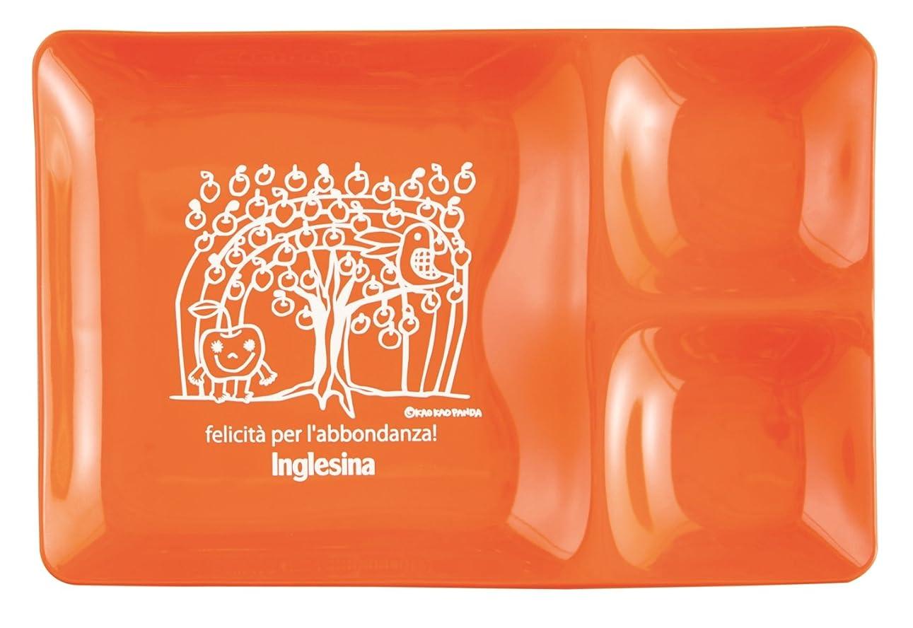 見捨てる取り扱いシャンプーイングリッシーナ Inglesina ファスト アートプレート かおかおパンダ オレンジアップル ベビー食器