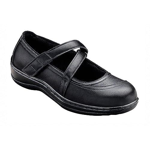 3d74c81c0842 Orthofeet Plantar Fasciitis Orthopedic Diabetic Flat Feet Bunions  Comfortable Celina Womens Mary Jane Shoes