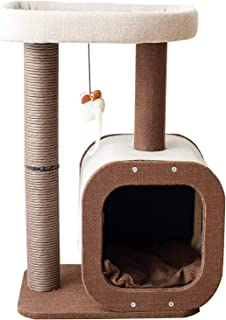 Catry Kitten Cat Tree Condo with Paper Rope Covered Scratching Post Activity Center for Climbing Relaxing and Playing Natu...