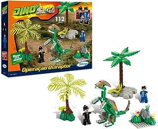 Blocos de Encaixe Dino Saga Operação Oviraptor Xalingo