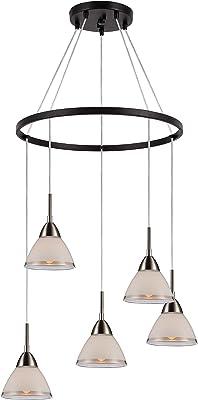 Woodbridge Lighting 13246STZLE-C60601 Chandelier, Nickel/Bronze