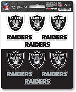 ProMark NFL Oakland Raiders DecalDecal Set Mini 12 Pack, Team Colors, One Size