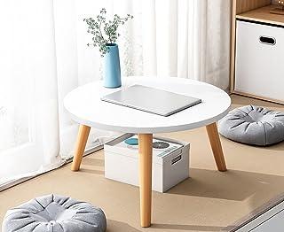 CJDM Petite Table Basse de Style japonisant, Table Basse Tatami, Petite Table Baie vitrée, Table Imitation Bois Massif Sim...