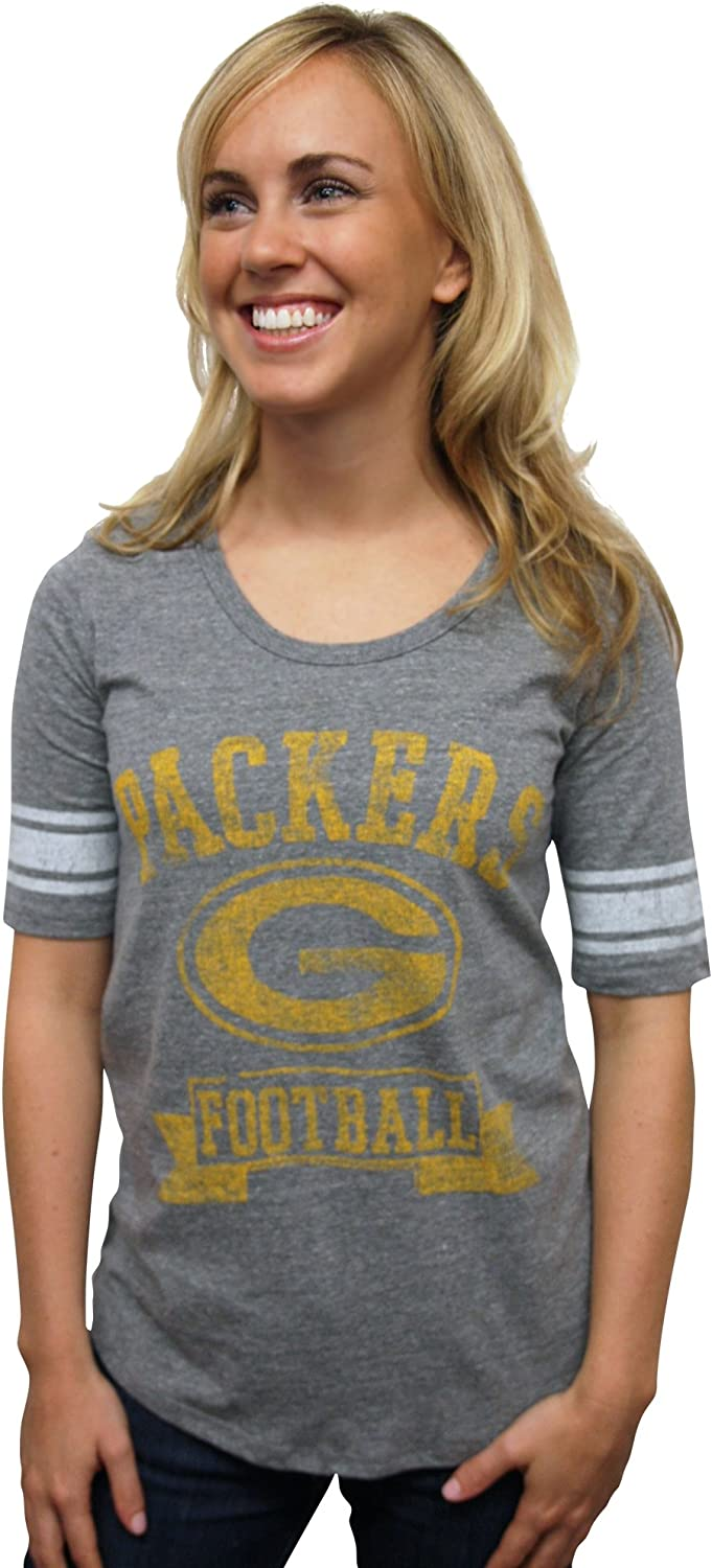 NFL Green Bay Packers Fees free Vintage Al sold out. Triblend Sleeve Te Neck Short Crew