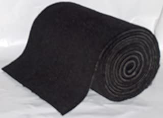 1 Roll Black16 oz UV stabilized 18inchesX18feet Boat Trailer Bunk Carpet.