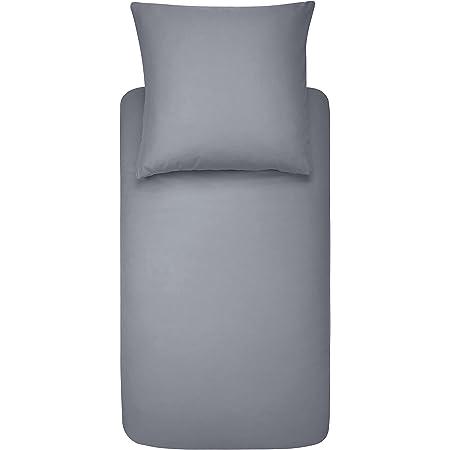 Amazon Basics Duvet Set, Gris foncé, 140cmx200cm/ 65cmx65cmx1