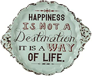 NIKKY HOME Happiness is Not a Destination It is a Way of Life Small Vintage Metal Sign..