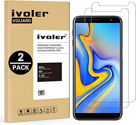 iVoler [Pack de 2] Verre Trempé pour Samsung Galaxy A7 2018 / J6 Plus 2018 / J4 Plus 2018, Film Protection écran en Verre trempé pour Samsung Galaxy A7 2018 / J6+ 2018 / J4+ 2018