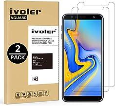 ivoler [2 Unidades] Protector de Pantalla para Samsung Galaxy A7 2018 / J6 Plus 2018 / J4 Plus 2018, Cristal Vidrio Templado Premium para Samsung Galaxy A7 2018 / J6+ 2018 / J4+ 2018