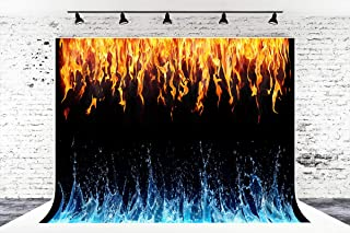 7ft x 5ft Ice Fire Microfiber Photography Background for Photo Booth Studio Wedding Party Shot Backdrop Props