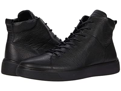 ECCO Street Tray High-Top Sneaker (Black) Men