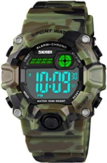 Boys Camouflage LED Sports Watch,Waterproof Digital...